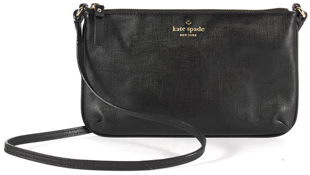 KATE SPADE Solid Black Cow Leather Crossbody Bag