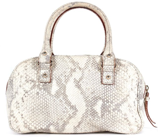 KATE SPADE Ivory Gray Snakeskin Leather Shoulder Bag
