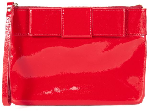KATE SPADE Cherry Red Patent Leather Clutch