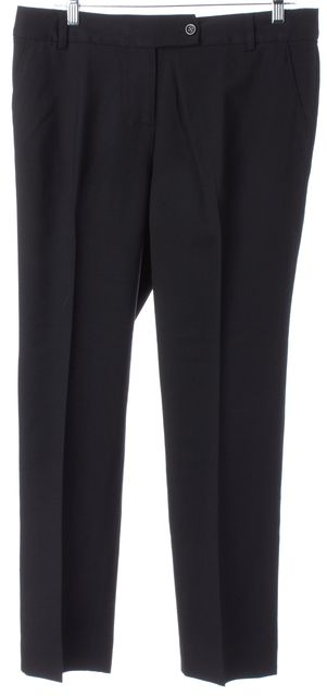 KATE SPADE Black Wool Pleated Trouser Dress Pants