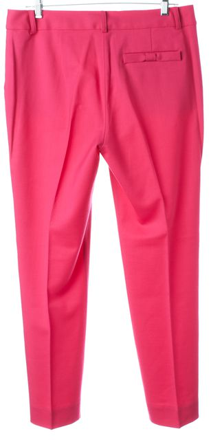 KATE SPADE Hot Pink Wool Pleated Trouser Dress Pants