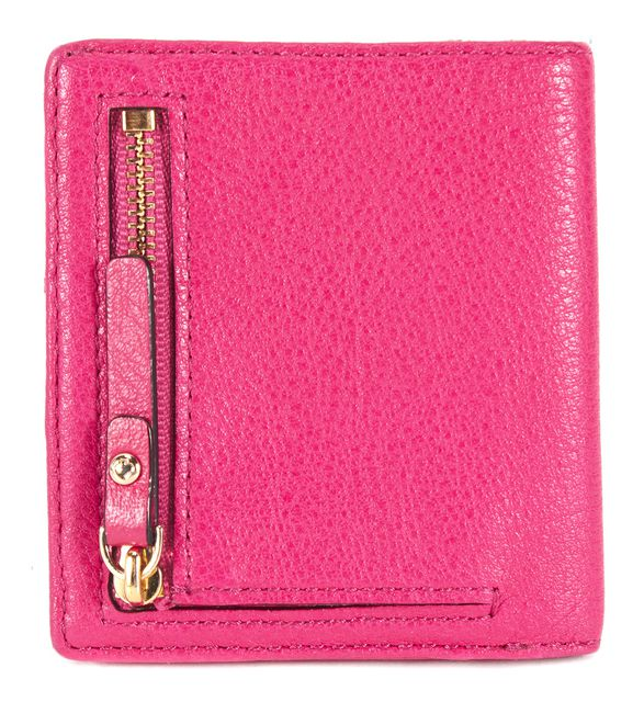 KATE SPADE Deep Pink Pebbled Leather Small Stacy Wallet