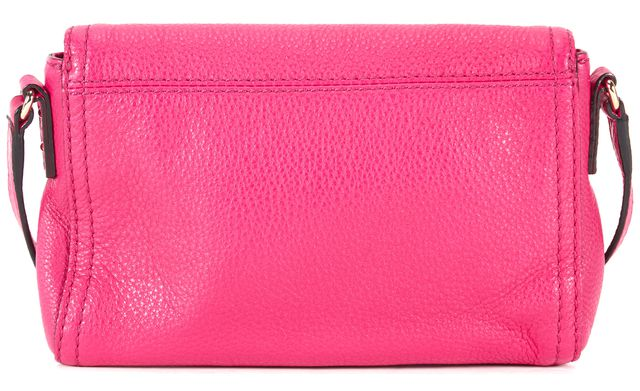 KATE SPADE Fuschia Pink Pebbled Leather Adjustable Strap Fold-Over Crossbody