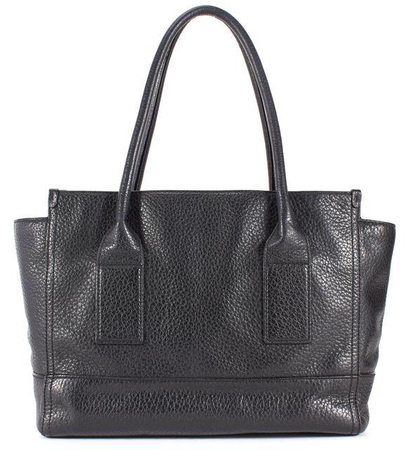 KATE SPADE Black Leather Gold Zip Tassel Tote Shoulder Bag