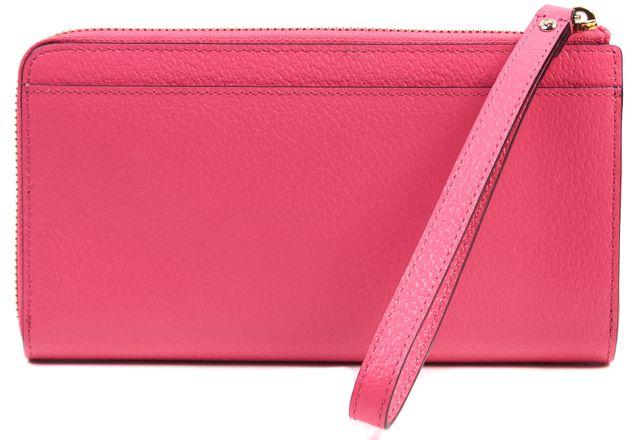 KATE SPADE Hot Pink Pebbled Leather Layton Tech Friendly Wristlet Wallet