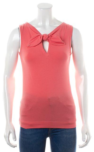 KATE SPADE Hot Pink Casual Bow Collar Tank Top