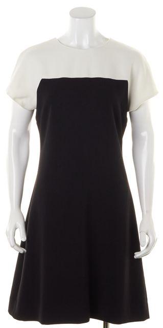 KATE SPADE Black White Color Block Short Sleeve Sheath Dress