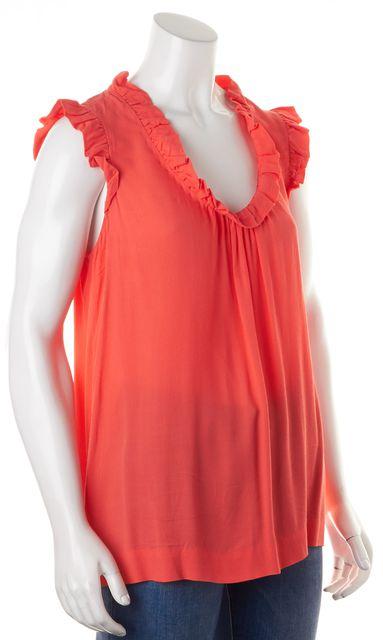 KATE SPADE Pink Sleeveless Ruffled Blouse Top
