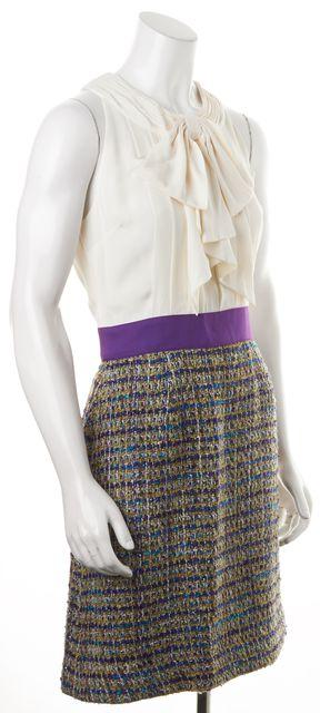 KATE SPADE Purple Tweed Silk Wool Lucy Sheath Dress