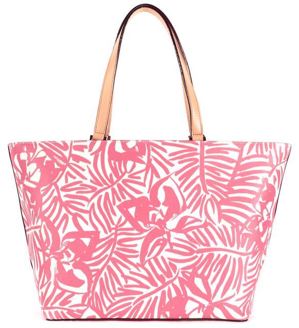 KATE SPADE Pink Grant Street Grainy Vinyl Tropical Floral Print Jules Tote