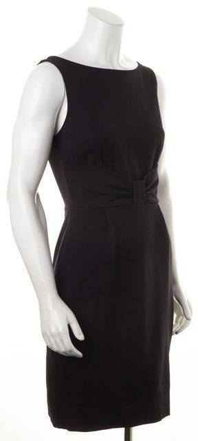 KATE SPADE Solid Black Sleeveless Pencil Dress