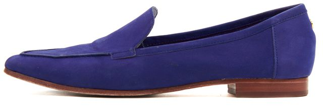 KATE SPADE Indigo Blue Suede Slip-On Pointed Toe Loafers