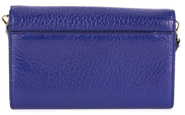 KATE SPADE Navy Blue Leather Convertible Flap Crossbody Bag