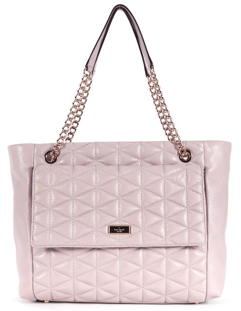KATE SPADE Dusty Pink Quilted Leather Emery Court Chain Shoulder Bag