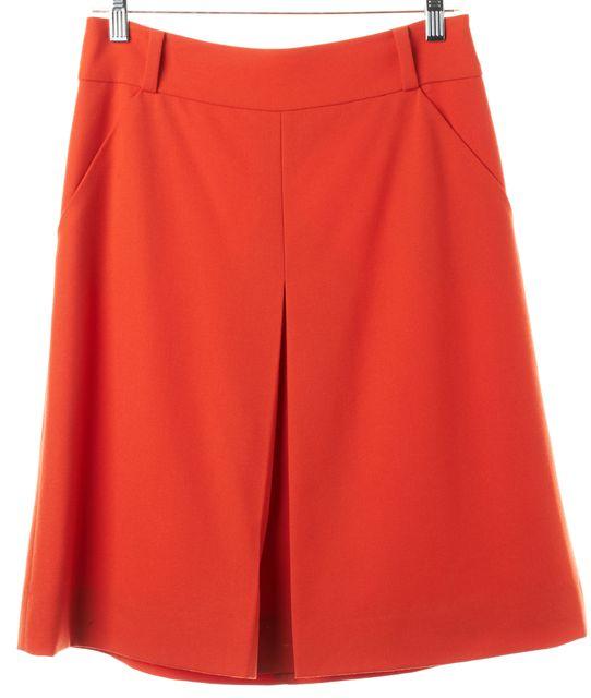 KATE SPADE Orange Wool Knee-Length A-Line Skirt