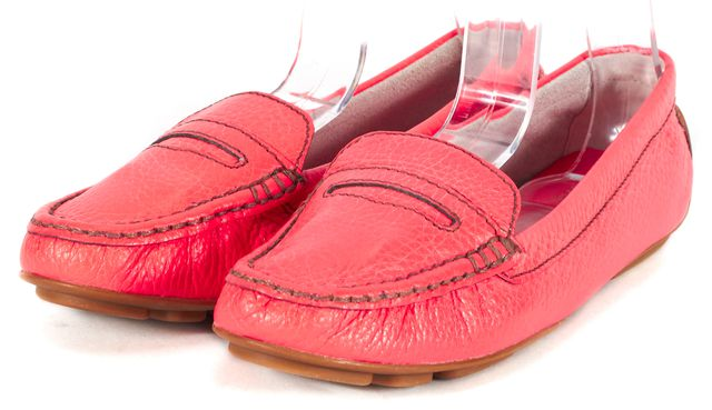 KATE SPADE Hot Pink Leather Phoenix Driving Loafer Flats