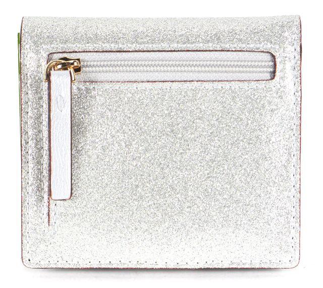 KATE SPADE Silver Glitter Leather Haven Lane Serenade Wallet