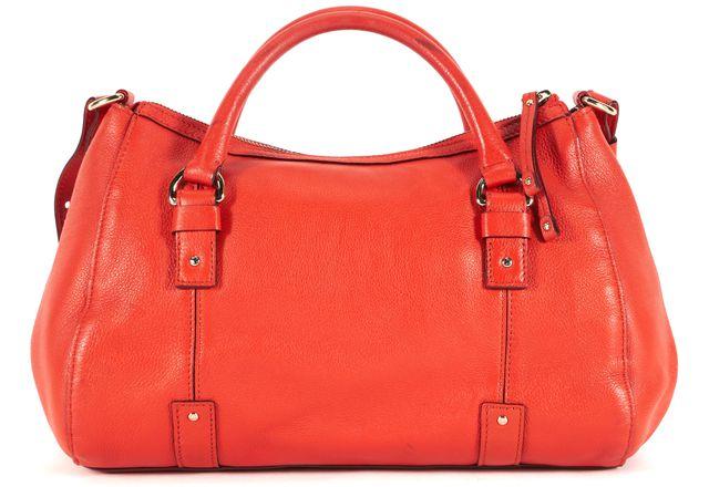 KATE SPADE Crimson Red Pebbled Leather Adjustable Strap Satchel