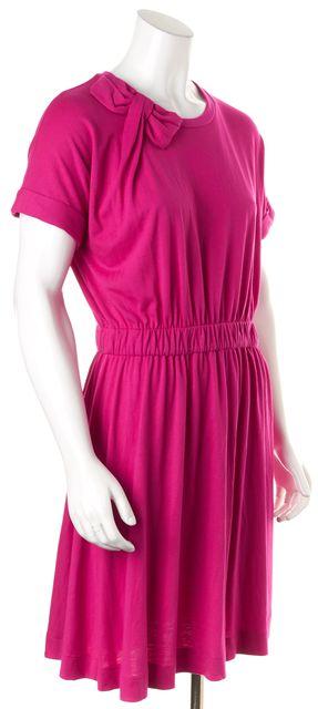 KATE SPADE Fuchsia Pink Short Sleeve Knee-Length Blouson Dress