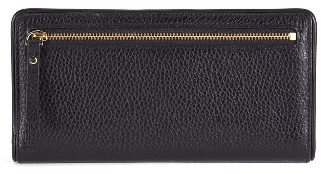 KATE SPADE Black Pebbled Leather Continental Wallet