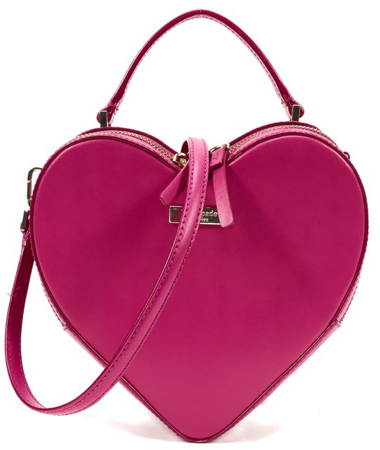 KATE SPADE Hot Pink Leather Heart Shaped Valentine's Day Crossbody