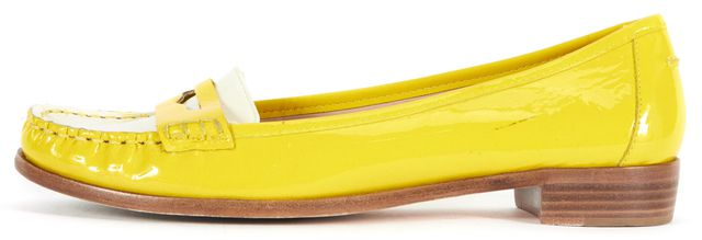 KATE SPADE Yellow White Patent Leather Cody Loafers