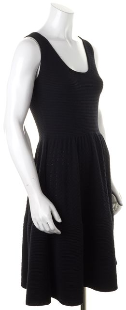 KATE SPADE Black Wool Sleeveless Stretch Knit Fit & Flare Dress