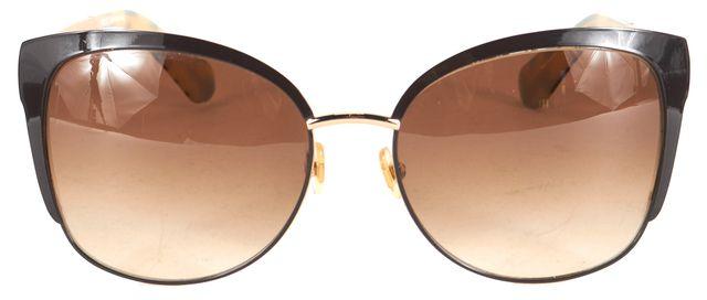 KATE SPADE Brown Metal Frame Gradient Lens Genice Cat Eye Sunglasses