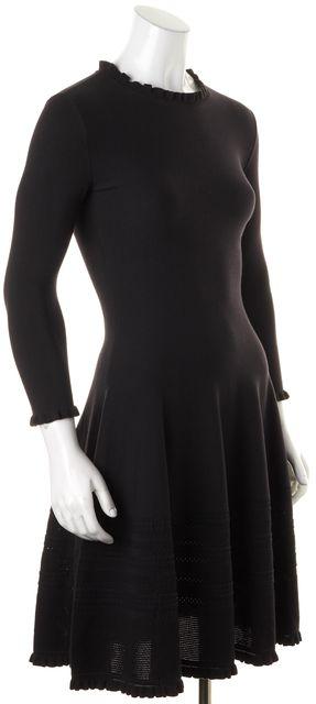 KATE SPADE Black Long Sleeve Above Knee Fit & Flare Dress