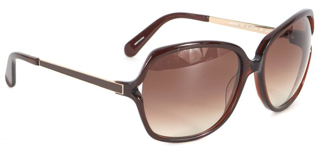 KATE SPADE Brown Acetate Oversized Square Frame Gradient Lenses Sunglasses