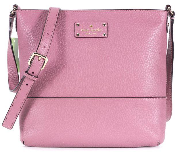 KATE SPADE Rick Rum Raisin Pink Leather Bay Street Cora Shoulder Bag