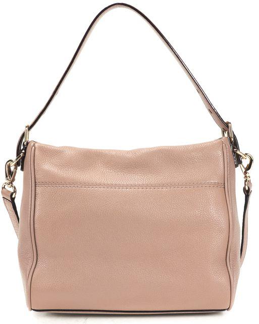 KATE SPADE Beige Pebbled Leather Gold Hardware Shoulder Bag