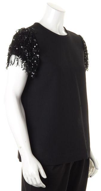 KATE SPADE Black Sequin Embellished Blouse