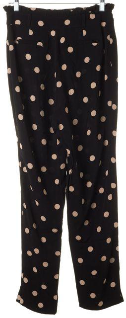 KATE SPADE Black Beige Polka Dot Trouser Dress Pants