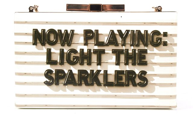 KATE SPADE Gray Samira Now Playing: Light The Sparklers Convertible Clutch