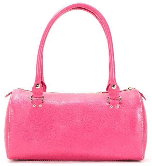 KATE SPADE Carnation Pink Leather Bowling Top Handle Bag