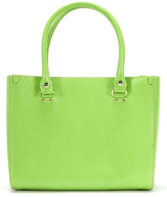 KATE SPADE Green Leather Silver Tone Hardware Shoulder Bag