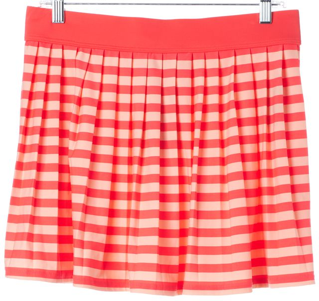 KATE SPADE Geranium Pink Striped Cover Up Mini Skirt
