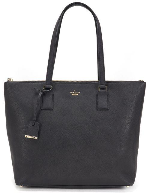 KATE SPADE Black Saffiano Leather Large Tote Bag