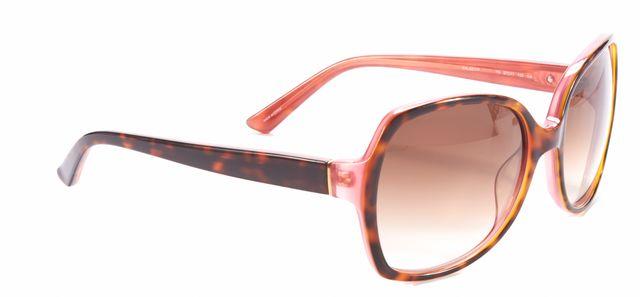 KATE SPADE Brown Acetate Frame Rectangular Sunglasses