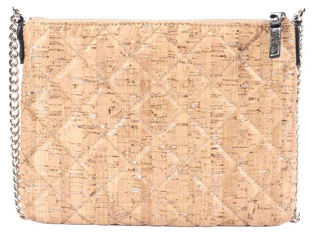 KATE SPADE Beige Ginnie Gold Coast Cork Chain Crossbody Shoulder Bag