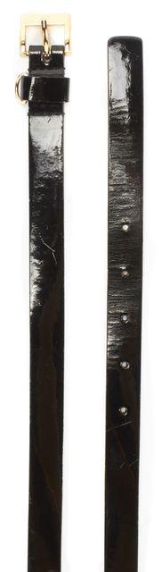 KATE SPADE Black Wet Look Shiny Leather Belt