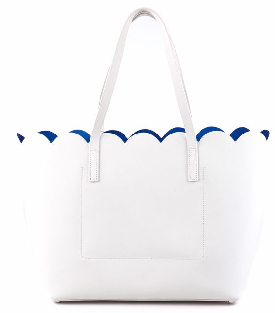 KATE SPADE White Tote Shoulder Handbag