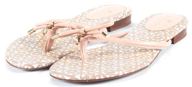 KATE SPADE Pink Leather Flip Flops Sandals
