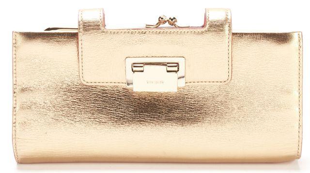 KATE SPADE Metallic Gold Leather Wallet