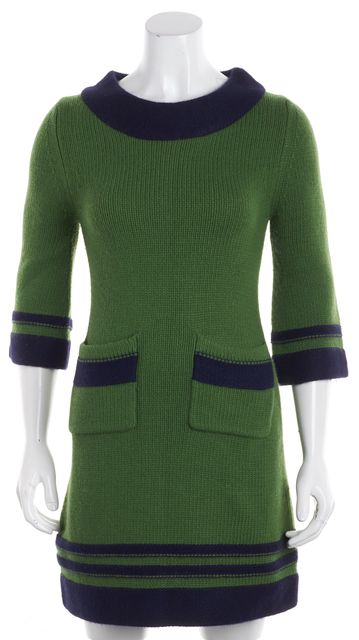 KATE SPADE Green Blue Sweater Dress