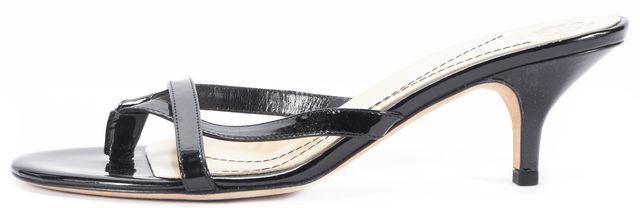 KATE SPADE Black Patent Leather Sandal Slip-on Heels