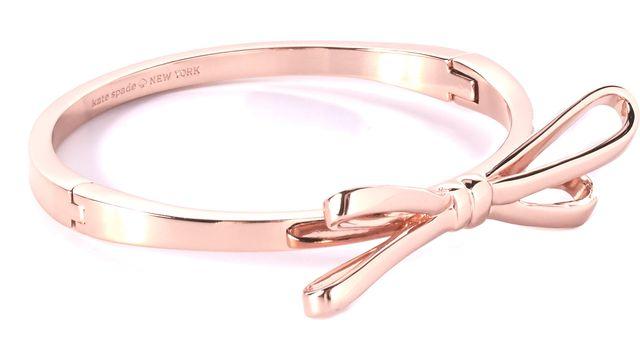 KATE SPADE Rose Gold Bow Tie Fashion Bangle Bracelet