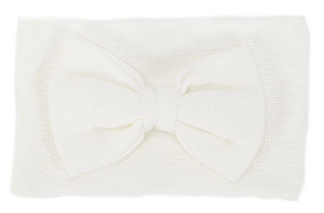 KATE SPADE White Embellished Bow Choker Scarf