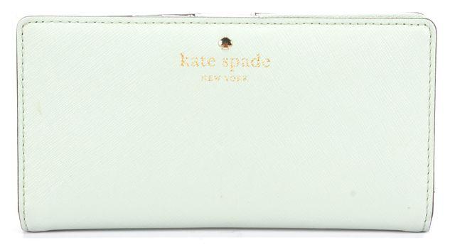 KATE SPADE Misty Mint Green Leather JACKSON STREET STACY Wallet